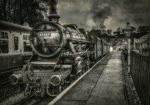 Awaiting Departure from Grosmont Station