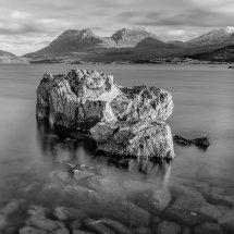 Rock in a loch