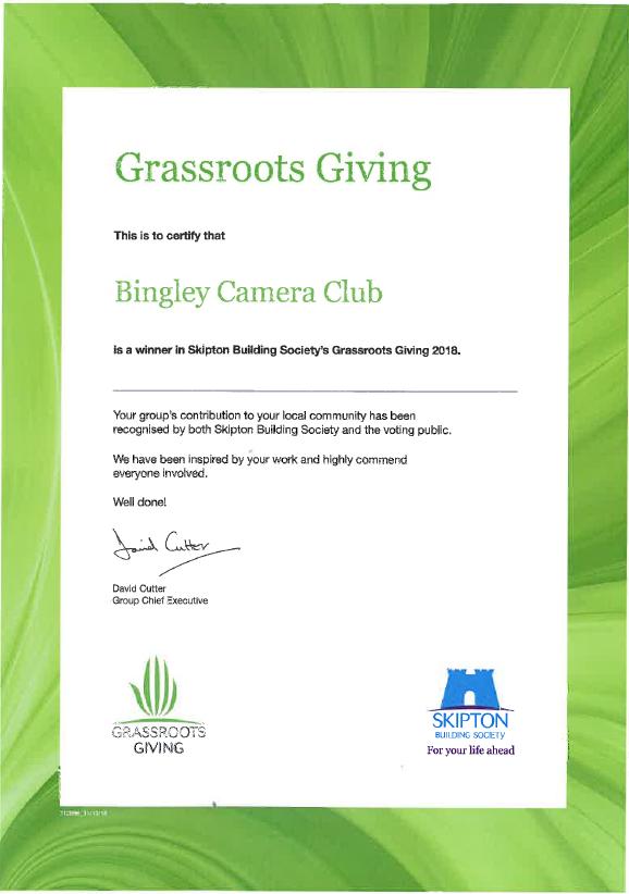 Grassroots Certificate 2018