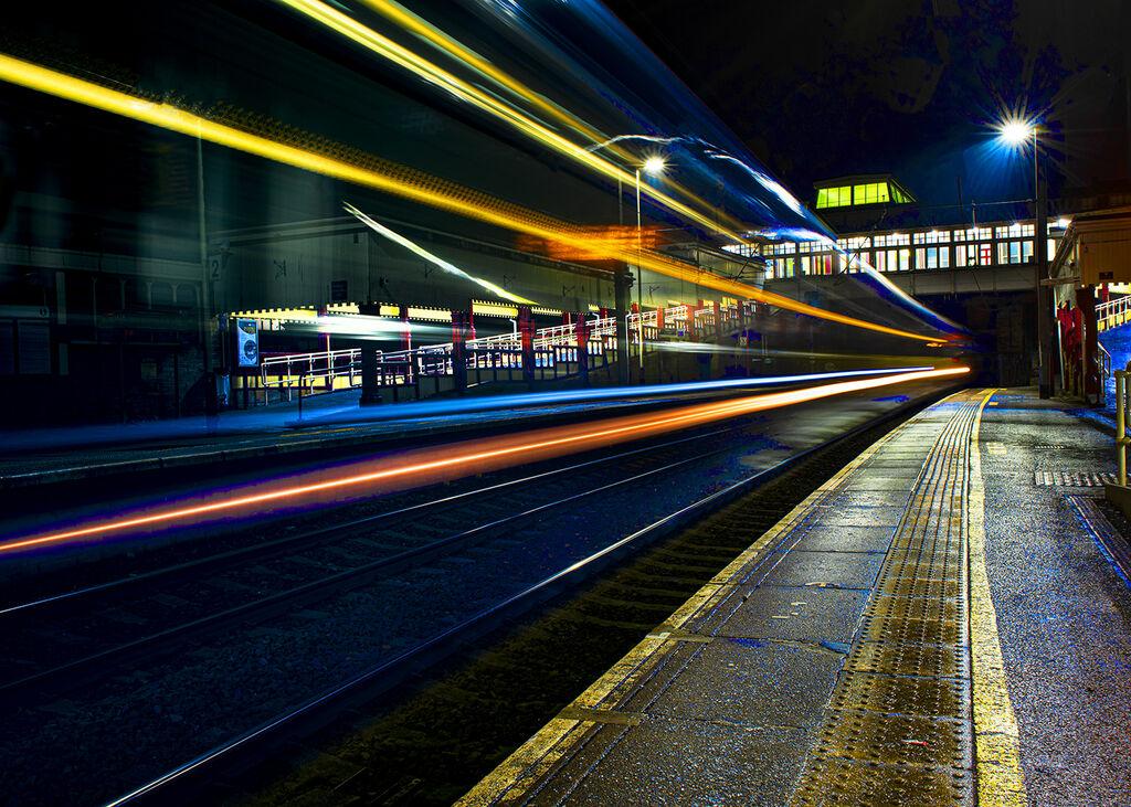 View Through Moving Train