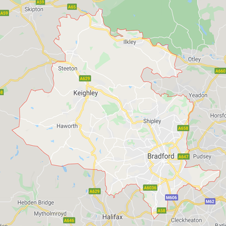 Map of Bingley Camera Club Mills and Hill borders