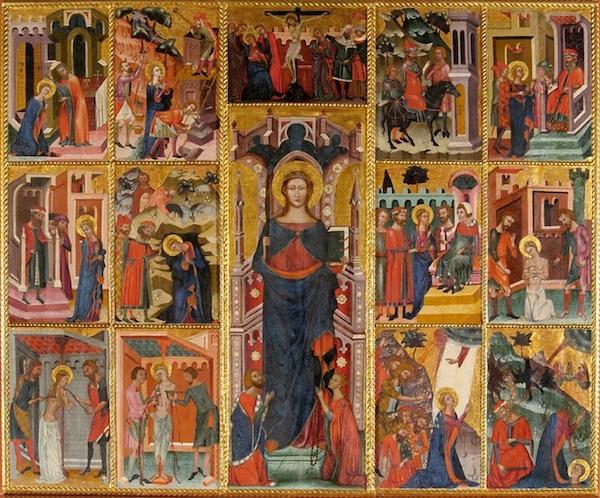 14th century Saint Barbara.