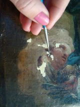 Paint Loss is filled with gesso.
