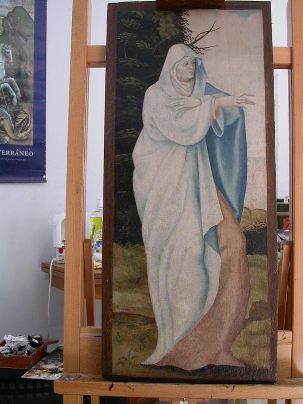 Paintings age.