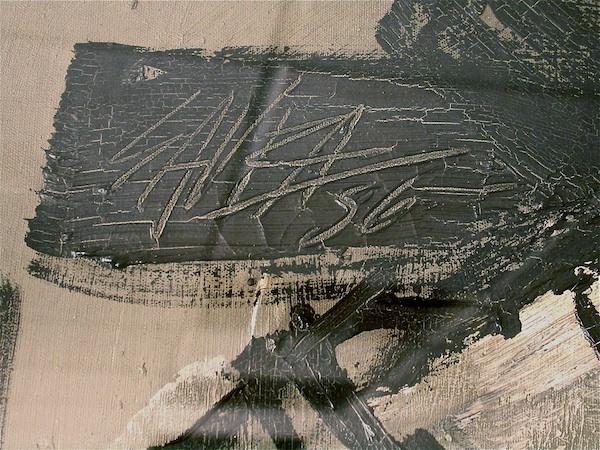 Detail of Carlos Saura painting.