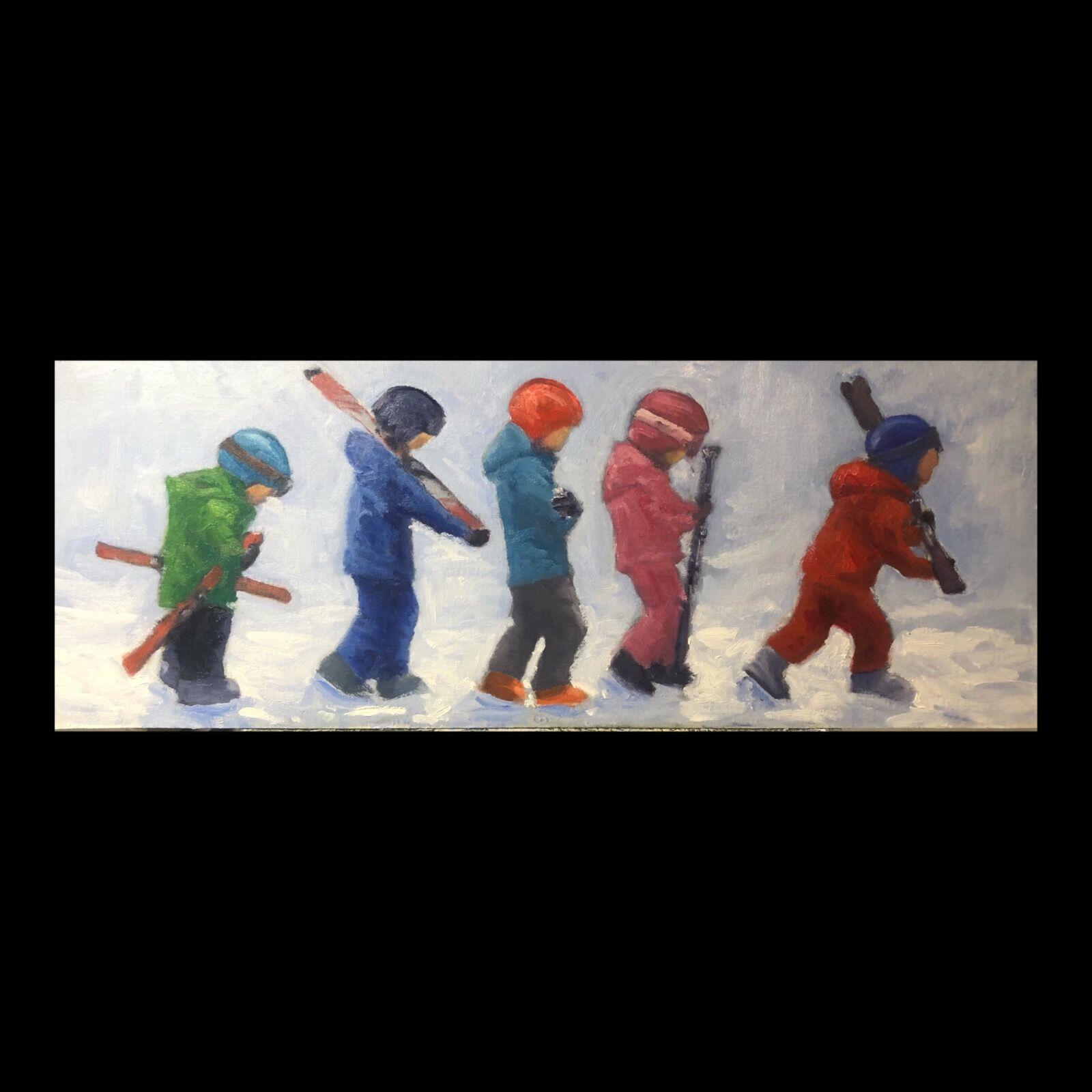 On the way to ski school