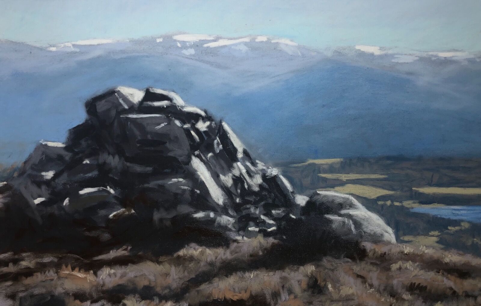 The Cairngorms from an Suidhe. Kincraig