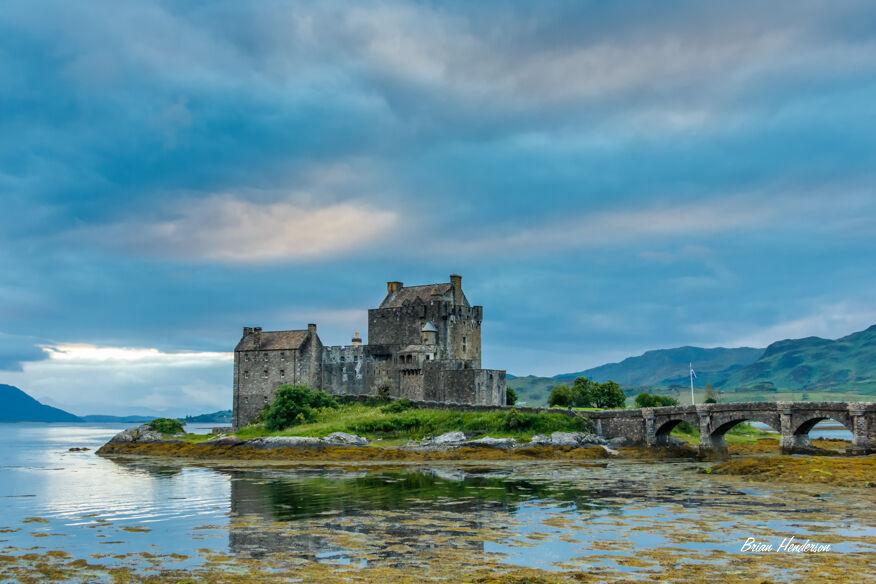 Eilean Donan Castle Tranquil Sky