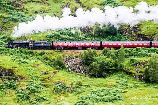 Steam Train heads for Mallaig