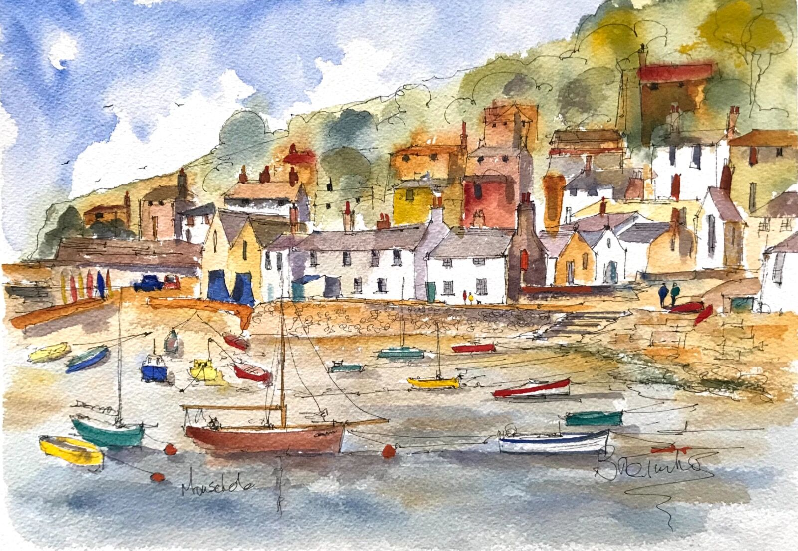 Low tide at Mousehole in Cornwall