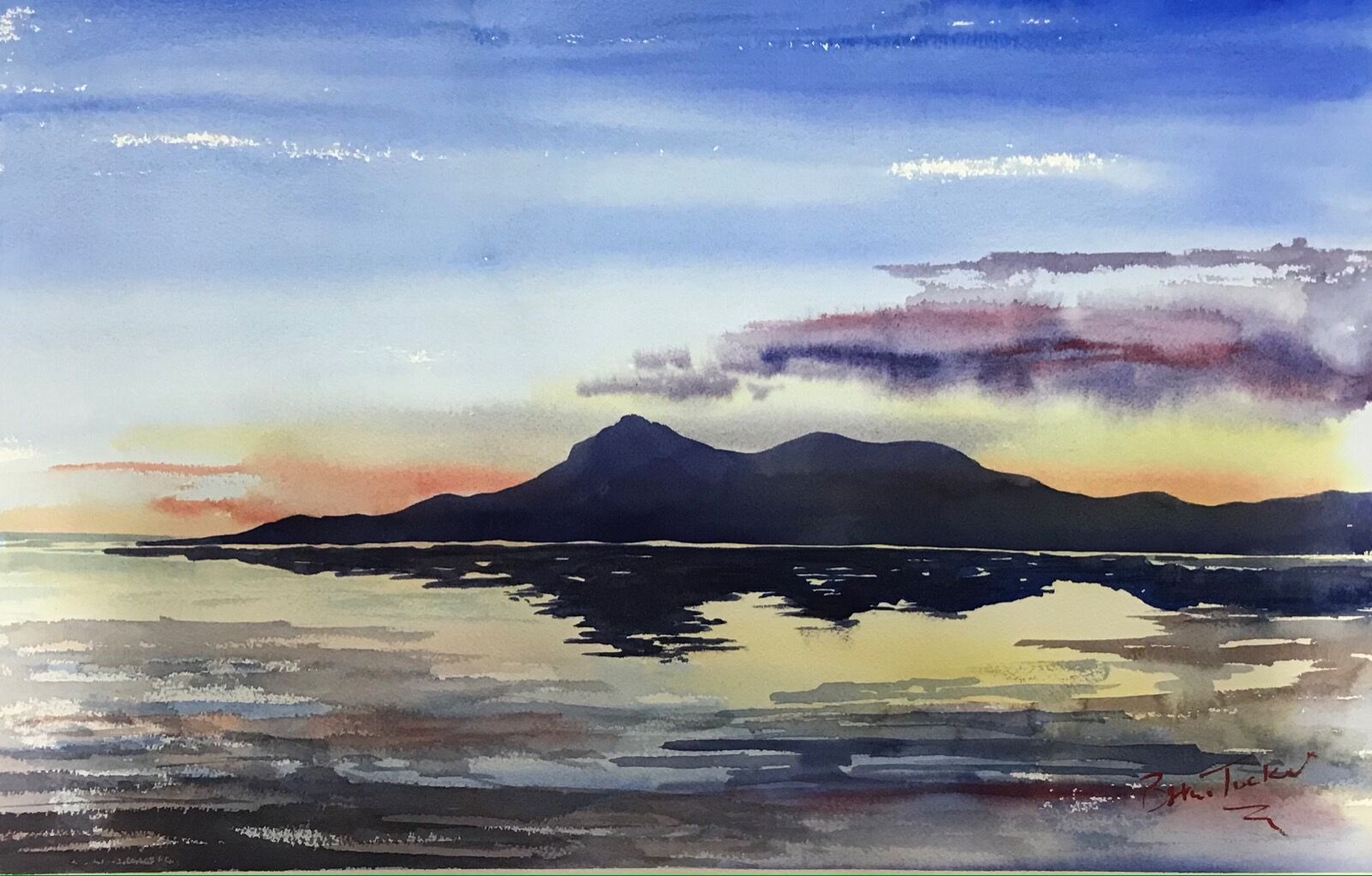 Evening at the Mourne Mountains