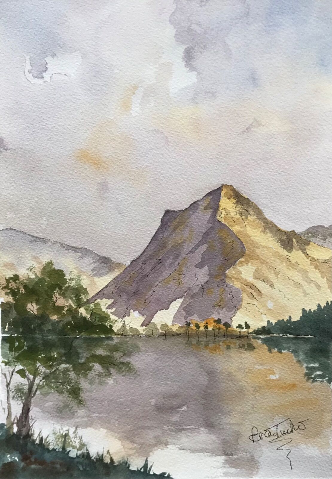 Across Buttermere in the Lake District