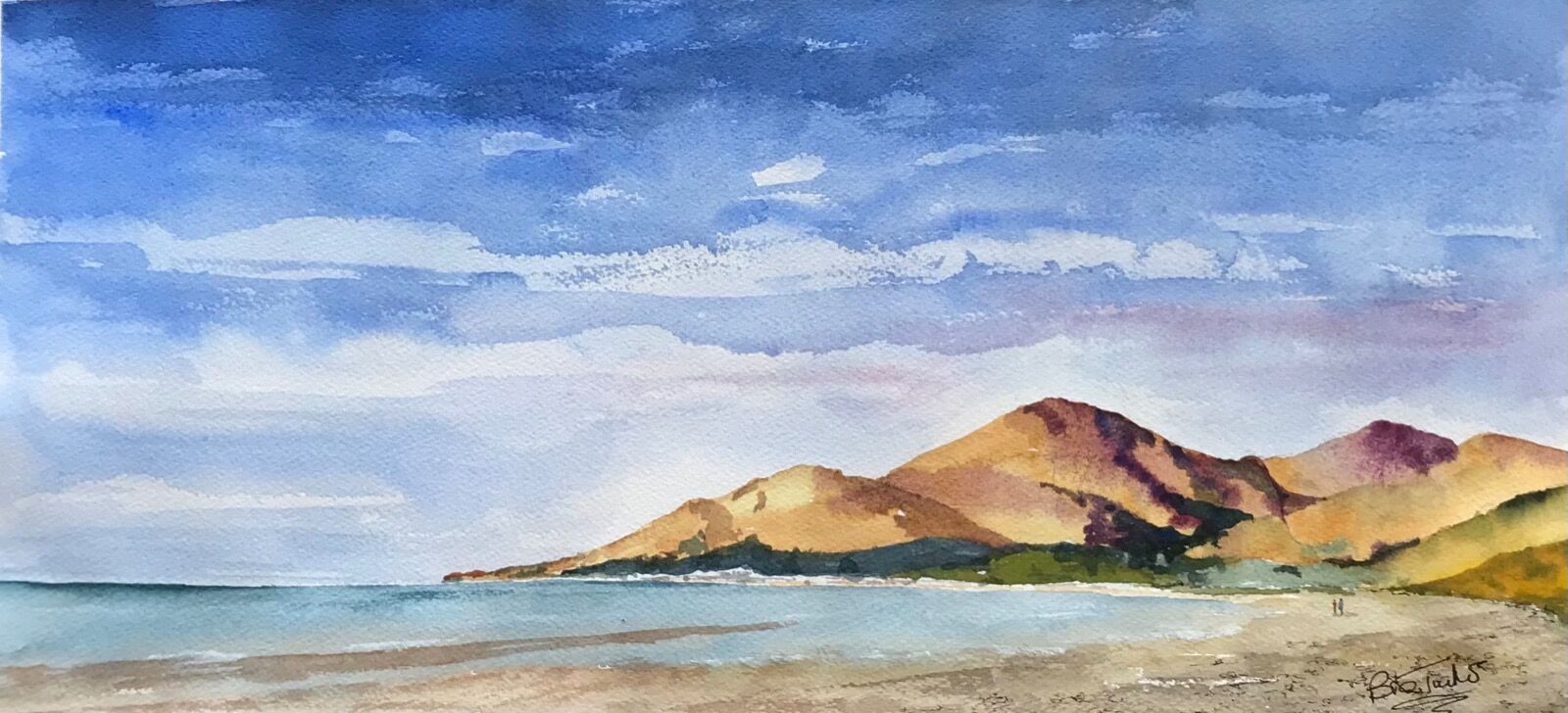 Summer in the Mourne Mountains from Murlough Bay