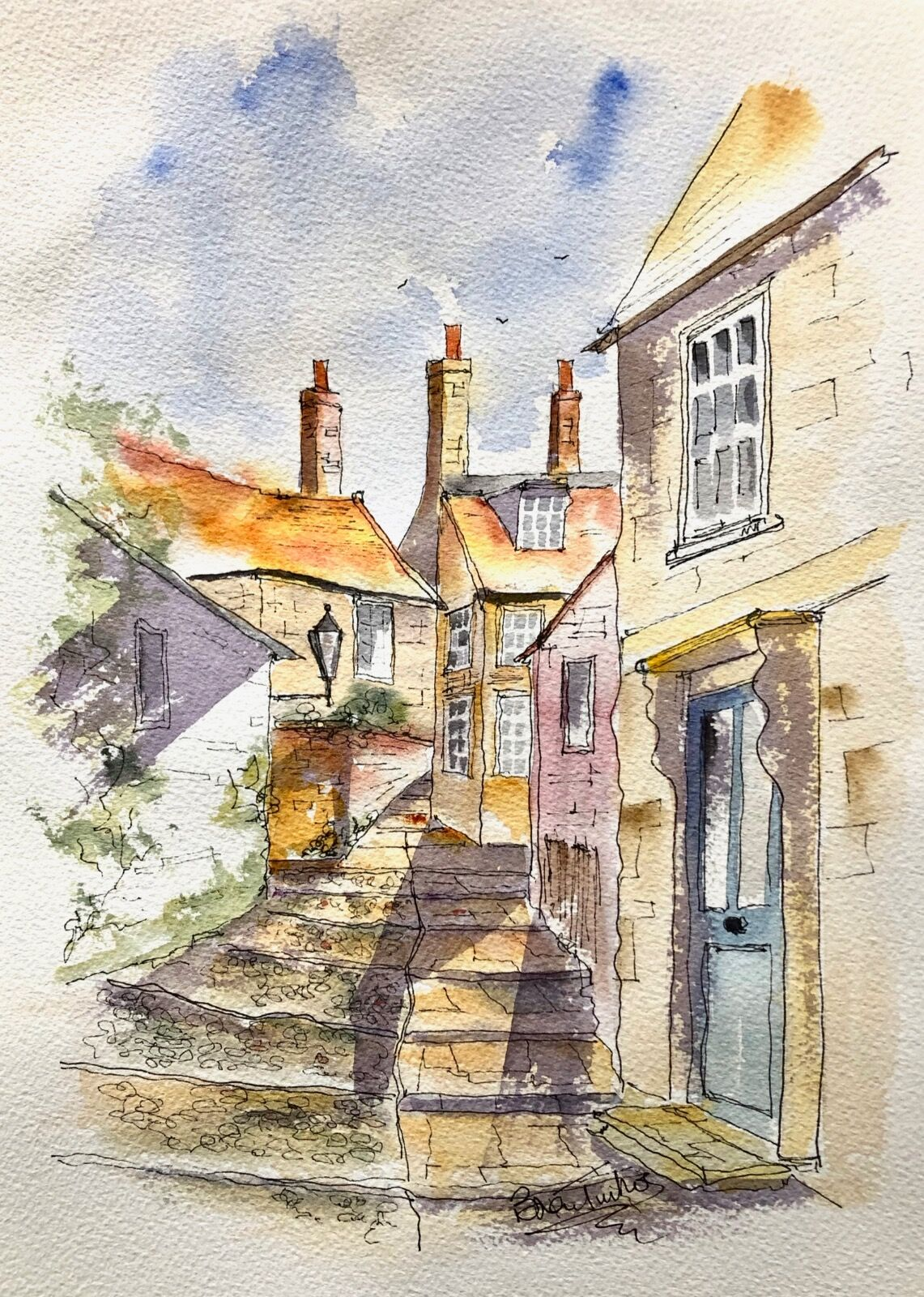 The Village of Robin Hoods Bay in Yorkshire