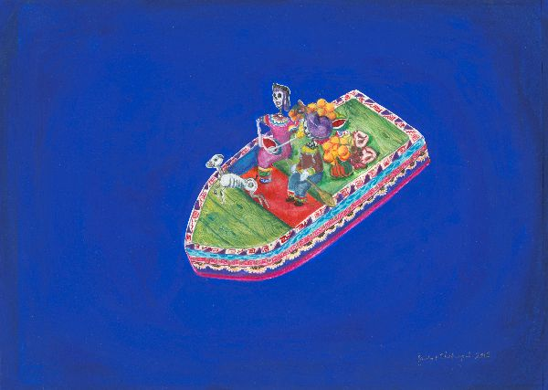 Mexican Boat Coming Home by Bridget Chetwynd
