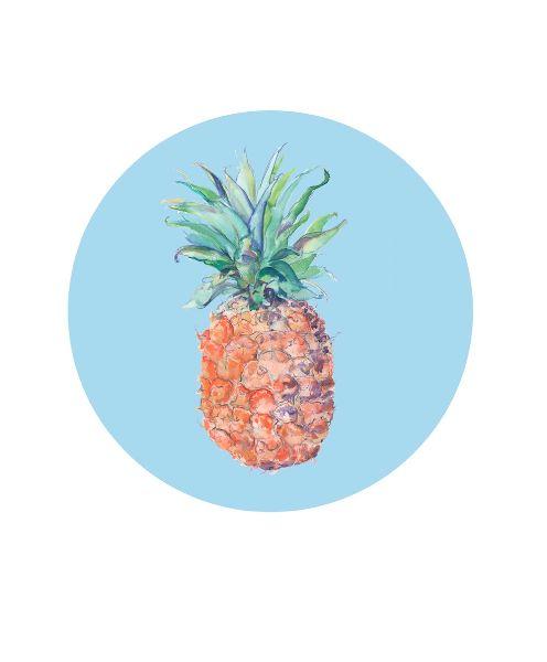 Pineapple Circle print