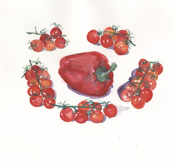 Red Peppers & Cherry Tomatoes