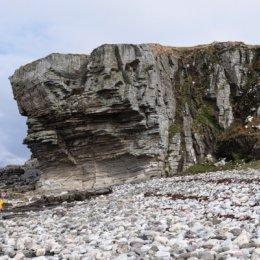 The beach at Elgol - Jurassic rock