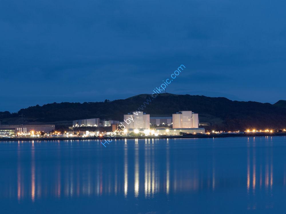 Hunterston Power Station at night
