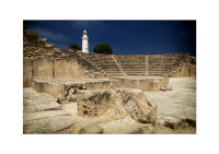 Amphitheatre and Lighthouse at the Archaeological Park. Phaphos, Cyprus