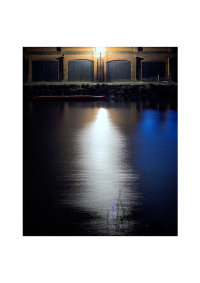 Richmond Embankment Boathouses at night