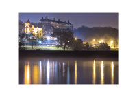 Richmond Hill Petersham Hotel and Star & Garter at Night in the Fog