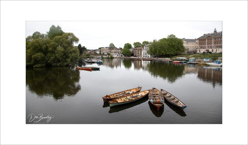 Richmond Boats and Riverside from Richmond Bridge
