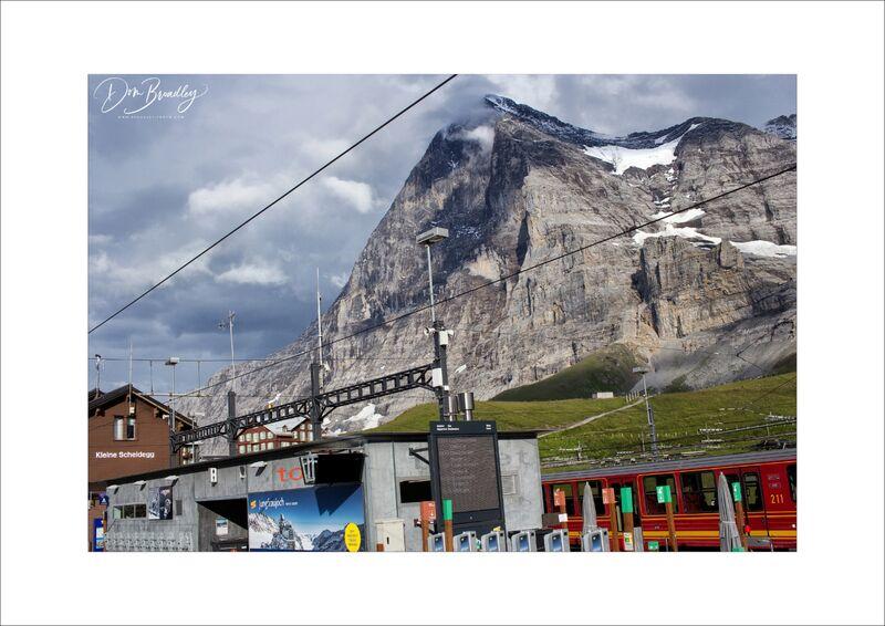 Eiger from Kleine Scheidegg. Berner Oberland, Switzerland