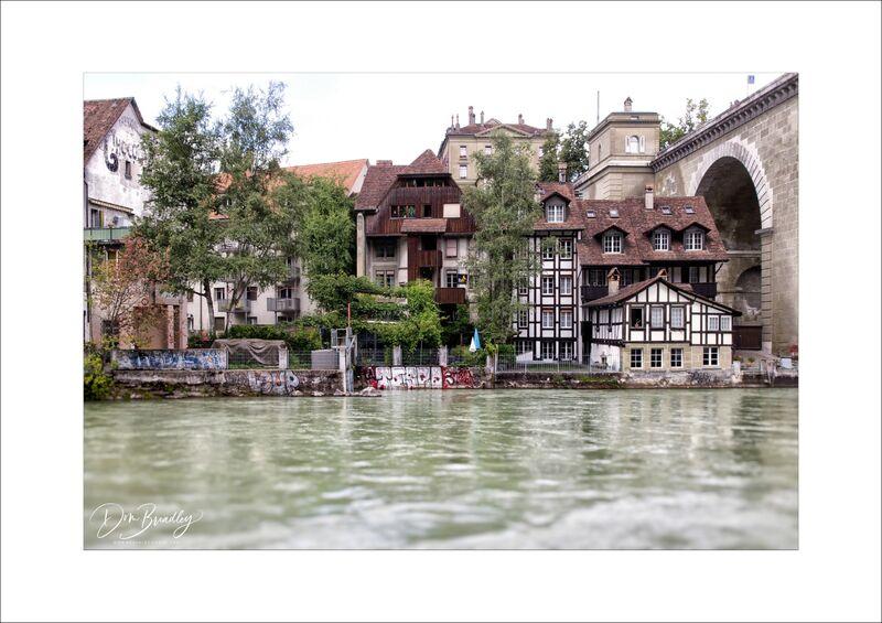 Houses on the Nydeggbrücke. Bern, Switzerland