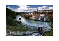 Houses on the Nydeggbrücke. Bern, Switzerland. ISO broadley-photo.com