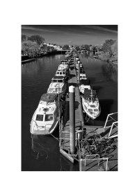 Moored Boats, Teddington Lock.