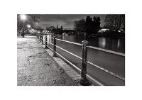 Twickenham Embankment and Eel Pie Bridge at Night