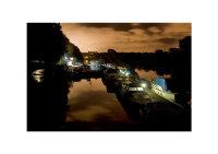 Moored Boats and Star & Garter Hotel, Meadowbank, Twickenham