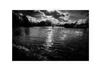 Eel Pie Bridge and Flooded Thames.