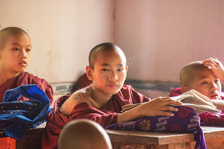 Novice Monks in school