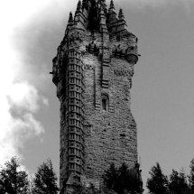 Wallace Monument Black & White
