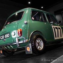 Classic Mini Green Rear View