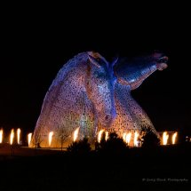 Flame Circled Kelpies