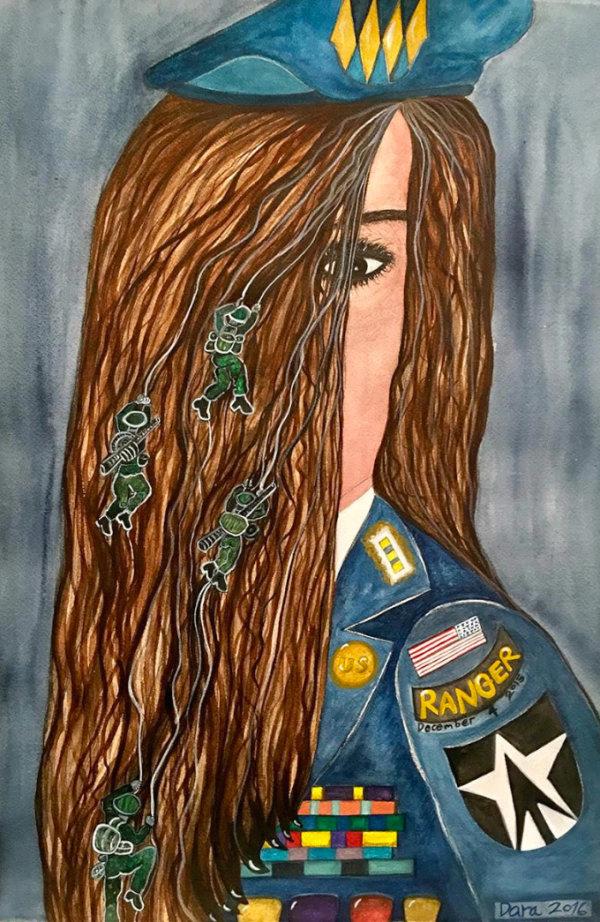First Female Army Ranger - by Dara Herman Zierlein (USA)