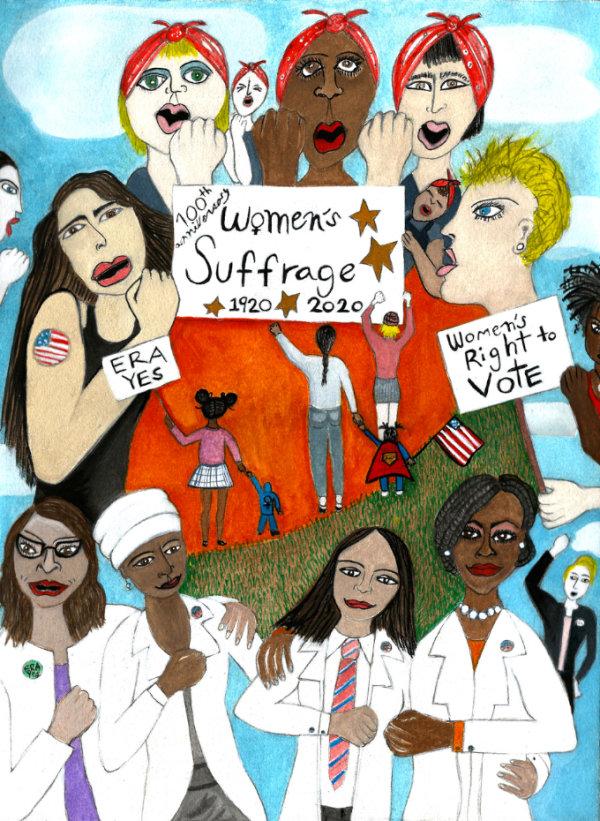 Women's Suffrage - by Dara Herman Zierlein (USA)