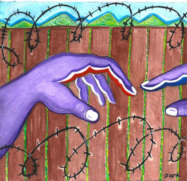 Turning Purple Borderland - by Dara Herman Zierlein (USA)