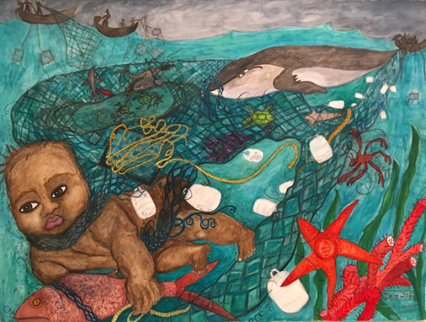 No To Ghost Nets - by Dara Herman Zierlein (USA)