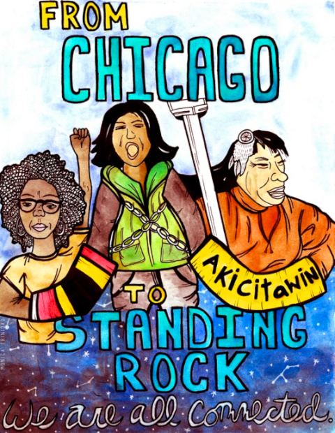 From Chicago to Standing Rock, We Are All Connected - by Monica Trinidad (USA)