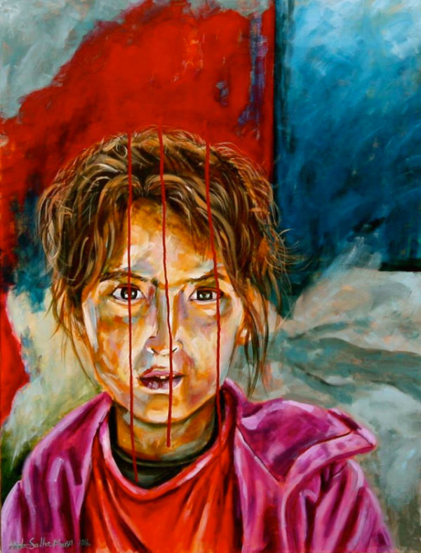 Stained - by Huda Salha (Palestine-Canada)