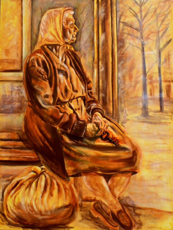 Waiting 1 - by Huda Salha (Palestine-Canada)