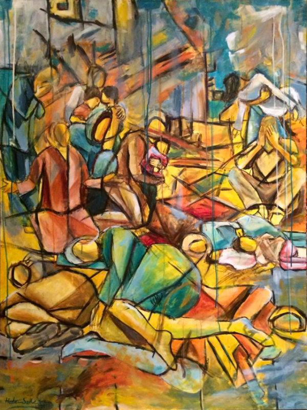Silence - by Huda Salha (Palestine-Canada)