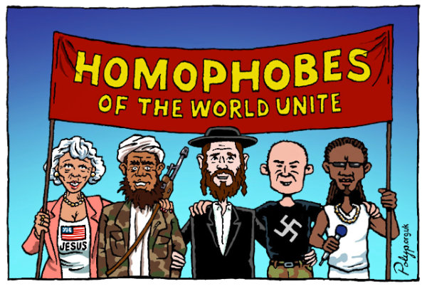 Homophobes United - by Polyp (UK)