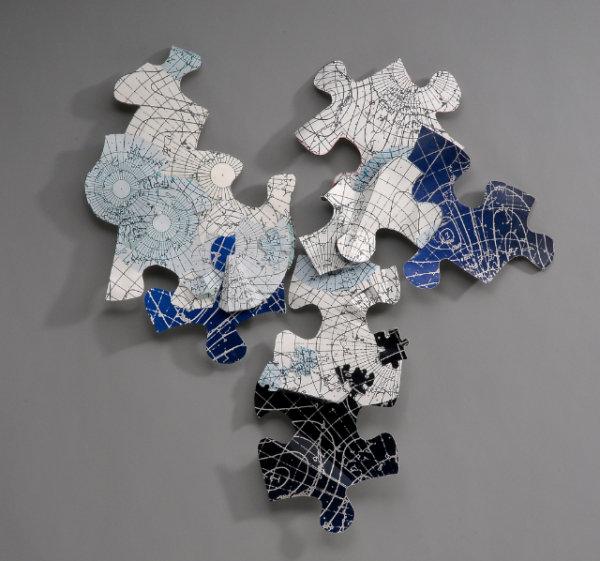 Jokulhlaup - Detail, 2013 - by Phyllis Ewen (USA)