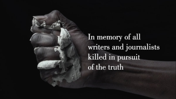 Monument for Murdered Authors and Journalists (Video) - by Theatre of Wrong Decisions (Netherlands)
