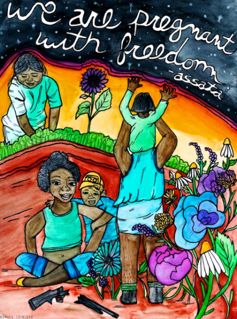 We Are Pregnant With Freedom - by Monica Trinidad (USA)